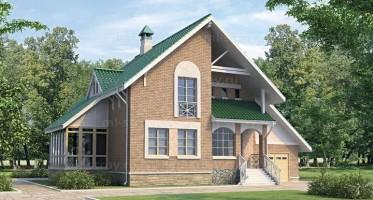 Проект дома из кирпича 34-23. 209 м²