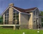 Проект дома из кирпича W-187-1K. 187.3 м²