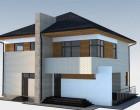 Проект дома из пенобетона O-203-1K. 184.3 м²